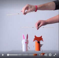 Fun puppets easy to create. Toilet Roll Craft, Toilet Paper Roll Crafts, Paper Crafts Origami, Animal Crafts For Kids, Diy For Kids, Recycled Crafts, Diy And Crafts, Puppets For Kids, Puppet Crafts