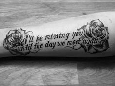 23 Emotional Memorial Tattoos to Honor Loved Ones - crazyforus 23 . - 23 Emotional Memorial Tattoos to Honor Loved Ones – crazyforus 23 … – 23 Emoti - Rip Grandma Tattoos, Rip Tattoos For Dad, In Loving Memory Tattoos, Grandpa Tattoo, Brother Tattoos, Husband Tattoo, Tattoo Mom, Brother Memorial Tattoo, Memorial Tattoos Grandma