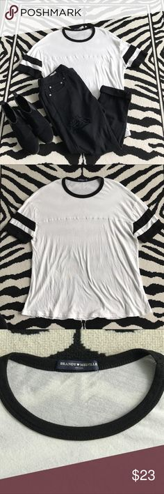 Brandy Melville Baseball Tshirt Brandy Melville Baseball Tshirt. Like new, very soft & easy to style. Brandy Melville Tops Tees - Short Sleeve