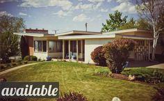 mid century modern home.