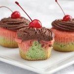Italian Spumoni Cupcakes | Holidays