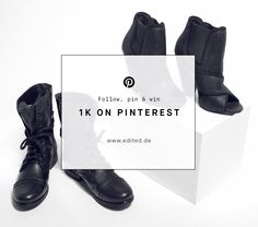 Thank you for 1.000 fans on Pinterest! We're giving away two pairs of Steve Madden Shoes. Simply repin this picture and send an email with the style you want and your size to gewinnspiel@edited.de. We'll announce the lucky winner on 4th of September 2015. Good luck!