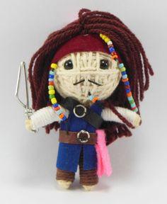 Johnny Depp Jack sparrow String doll Voodoo doll by narakdoll, $4.99