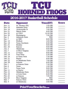 graphic about Ku Basketball Schedule Printable named 75 Least complicated School Basketball Schedules pictures within 2016