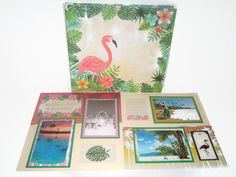 A personal favorite from my Etsy shop https://www.etsy.com/listing/553566038/flamingo-scrapbook-album-cruise