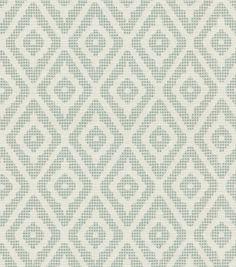 Upholstery Fabric-Waverly Delancey Diamond Pool