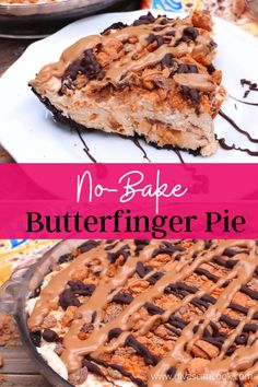 I was all about Butterfingers when I was younger.😋 This no-bake Butterfinger Pie is still a fav!