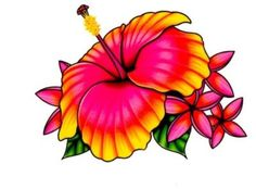 ❤ PINK YELLOW LILLY FLOWER TEMPORARY TATTOO ❤ MADE IN USA