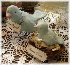 Paper Clay birds