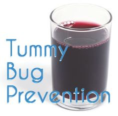 Stomach Bug Prevention Trick (Every mom should know this!) Simply have your kids drink a glass or two of 100%  grape juice (adults can add 1tsp of apple cider vinegar) it's the acidity in the juice that's supposed to help the bug from settling in your digestive tract.