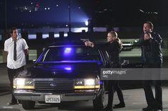 CHUCK -- 'Chuck vs. the DeLorean' Episode 210 -- Pictured: (l-r) Zachary Levi as Chuck Bartowski, Yvonne Strahovski as Sarah Walker, Adam Baldwin as Major John Casey