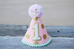 Hey, I found this really awesome Etsy listing at https://www.etsy.com/listing/219627895/girls-pink-and-gold-first-birthday-party