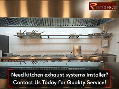Need kitchen exhaust systems installer? Contact Us Today on for Quality Service! Kitchen Exhaust, Kitchen Appliances, Exhausted, Stove, Restaurant, Diy Kitchen Appliances, Home Appliances, Range, Domestic Appliances