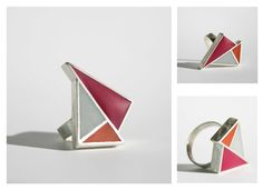 Angelina Jane - Contemporary geometric minimalist sliver and resin ring
