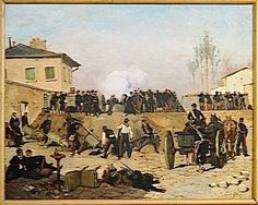 COMBAT A VILLEJUIF, SIEGE DE PARIS.19 SEPTEMBRE 1870