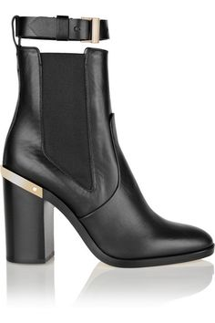 REED KRAKOFF Gold-trimmed leather ankle boots