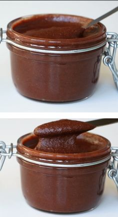 Sugar-Free Nutella Spread Recipe (Low Carb Paleo) - 5 Ingredients - This sugar-free Nutella recipe makes the perfect chocolate hazelnut spread. Low carb paleo sugar-free gluten-free and just delicious. Only 5 ingredients! Paleo and gluten-free too! Sugar Free Desserts, Sugar Free Recipes, Low Carb Desserts, Healthy Desserts, Low Carb Recipes, Bon Dessert, Dessert Recipes, Dinner Recipes, Sugar Free Nutella