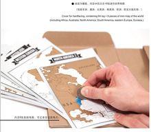 Скреста карты с 64 страниц журнал путешествия и 8 шт. карты мира 22.5 x 17 x 2 см(China (Mainland))