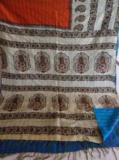 Silk Kantha Scarves,vintage Kantha Silk Scarve, Handmade Silk Scarf, Silk 041