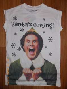 Perfect for Christmas holidays!  Elf Movie T Shirt Will Ferrell  karen8karen8 on ebay