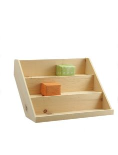 """Perfect for displaying product jars, soaps, small toys, etc. at the point of purchase or group them on your shelves. Extended backs may be branded. Shelf height and depth are both 3.25"""". Size variatio"""