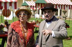 "2013 ""Dead Man's Folly"" David Suchet as Poirot with Zoe Wanamaker as Mrs Oliver"