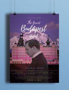 The Grandbudapest Hotel Poster - 그래픽 디자인, 디지털 아트