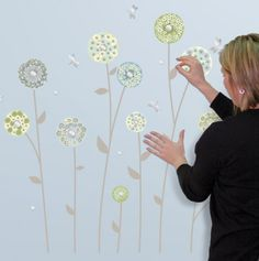 Dandelion Flowers Decorative Wall Decals.