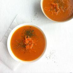 Wortel-tomatensoep