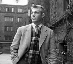 Ivy League couture - an unknown young man. Date and photographer unknown.