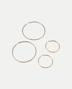 Image 1 of PACK OF 2 HOOP EARRINGS from Zara