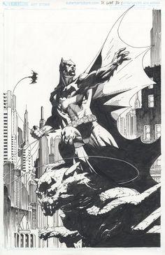 Art Vault — Batman by Jim Lee, inks by Scott Williams * Comic Book Artists, Comic Book Heroes, Comic Artist, Comic Books Art, Batman Artwork, Batman Wallpaper, Batman Comic Art, Jim Lee Batman, Jim Lee Art