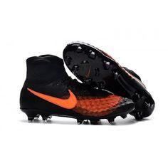online store 1f11c 4cc3a Nike Magista orden II FG Noir Orange soldes