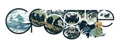 Google Doodle celebrating Dian Fossey's 82 birthday