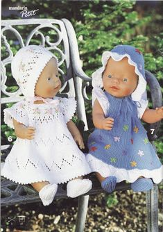Billede: Knitted Doll Patterns, Knitted Dolls, Baby Knitting Patterns, Baby Patterns, Knitting Dolls Clothes, Crochet Doll Clothes, Doll Clothes Patterns, Baby Born Clothes, Bitty Baby Clothes