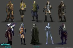 Character and NPC montage concepts