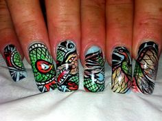 91 Best Dragon Nails Images On Pinterest Dragon Nails Accessories