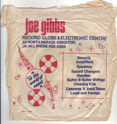 Joe Gibbs record bag 1977