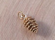 Pine Cone Charm, Pine Cone Pendant, Bronze Pine Cone Charm, Bronze Pendant, Nature Charm, Nature Pendant, Necklace Charm
