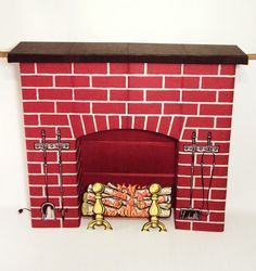 cardboard box fake fireplace - Google Search