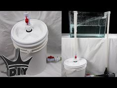 HOW TO: Build an XL aquarium canister filter with a 5 gallon bucket - 2 . 100 Gallon Aquarium, Saltwater Aquarium Setup, Aquarium Sump, Turtle Aquarium, Tropical Aquarium, Aquarium Fish, Aquarium Ideas, Tropical Fish, Turtle Tank Filters