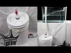 HOW TO: Build an XL aquarium canister filter with a 5 gallon bucket - 2 . 100 Gallon Aquarium, Saltwater Aquarium Setup, Aquarium Sump, Turtle Aquarium, Home Aquarium, Tropical Aquarium, Aquarium Fish, Aquarium Ideas, Tropical Fish