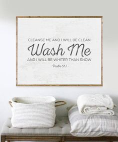 Laundry Print Bible Verse Print Laundry Room Decor Scripture Print Laundry Sign … - Home Cleaning DIY Psalm 51, Laundry Room Signs, Laundry Room Art, Laundry Room Quotes, Farmhouse Laundry Room, Farmhouse Style, Farmhouse Decor, Cleanse Me, Clean Cleanse