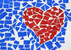 How to Make a Paper Mosaic: 6 Steps - wikiHow Paper Mosaic, Mosaic Crafts, Mosaic Art, Paint Swatch Art, Mosaics For Kids, Tears Art, Paper Art, Paper Crafts, 2nd Grade Art
