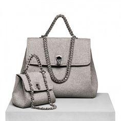 Borse Ermanno Scervino autunno inverno 2013 2014, handbag grigie - #handbag #bags #grey