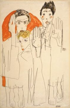 Egon Schiele - Double Selfportrait with Wally, 1913