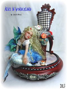 Alice in Wonderland Art Doll by Vicci Noel