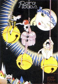 * Couverture du magazine brésilien PARA TODOS Février 1927 - José Carlos de Brito e Cunha, connu comme J Carlos (1884 - 1950) dessinateur, illustrateur et graphiste brésilien considéré comme l'un des plus grands représentants du style art déco en design graphique brésilien.