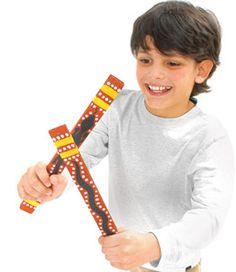 Aboriginal clap sticks - how fun