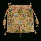 1600 - 1699 English Tapestry Weave Purse made with Colored Silks & Metallic Threads, Vintage Purses, Vintage Bags, Vintage Handbags, 17th Century Clothing, Sweet Bags, Embroidery Sampler, Embroidered Bag, Beaded Bags, Tapestry Weaving
